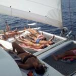 Tumbarse red catamaran Ibiza