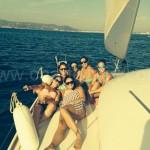 alquiler barco en santa eulalia navegando freus