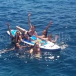alquiler de barco en ibiza con tabla de paddle surf