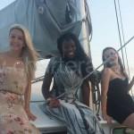 mas despedidas de soltera en velero y barco de Ibiza