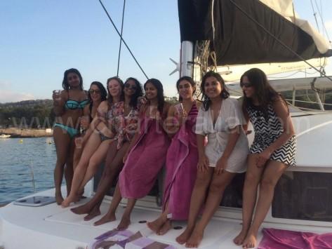 navegando hacia conejera en Ibiza