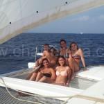 navegar en catamaran de alquiler en Formentera