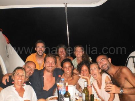 ocupantes camaran alquilado en agosto Ibiza
