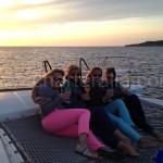 paseo en barco para puesta de sol en san antonio