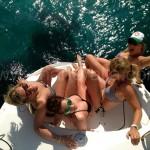popa del barco de vela catamaran Lagoon 380