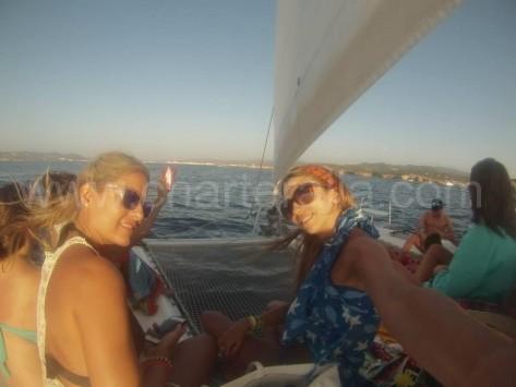 selfie navegando norte de isla de ibiza