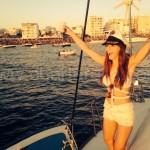 ver puesta de sol desde barco en ibiza
