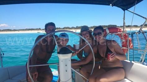 charter barco de vela en ibiza familias