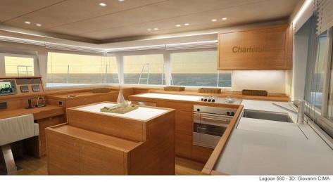 cocina barco lujo Ibiza