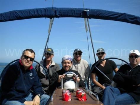 doble rueda de timon velero de charter en ibiza