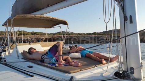 Hamacas exteriores alquiler de barcos en Ibiza