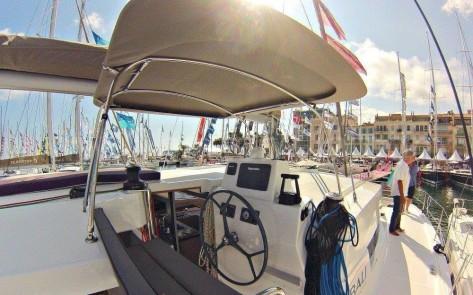 Catana Bali 43 siento de gobierno alquila yate en Eivissa