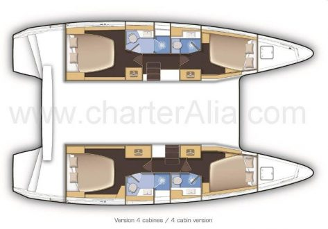 Planos del Lagoon 42 barco en alquiler en Eivissa