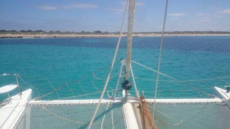 Charter de catamaran vela Lagoon modelo 470 en Ibiza