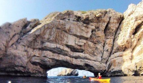 Atravesando Ses Margalides en Ibiza