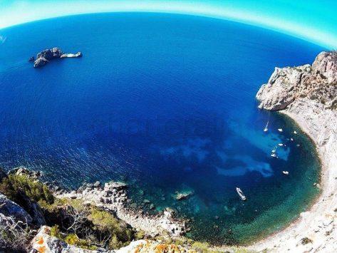Islas Ses Margalides y Cala Balandres en Ibiza