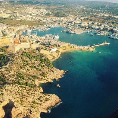 Panorámica de la bahía de Ibiza