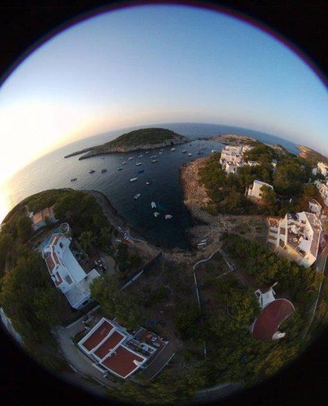 Port Portinatx con dron