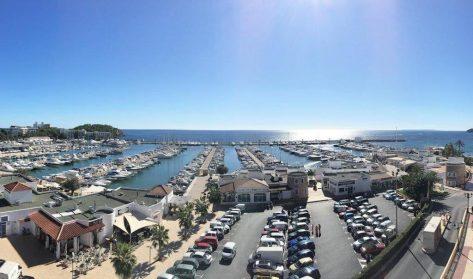 Vista panorámica del puerto de Santa Eulalia.