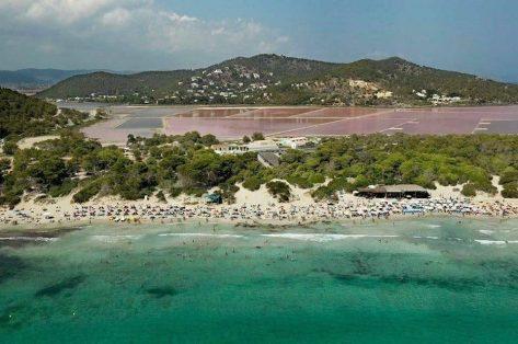 Vista aérea Ses Salines en Ibiza