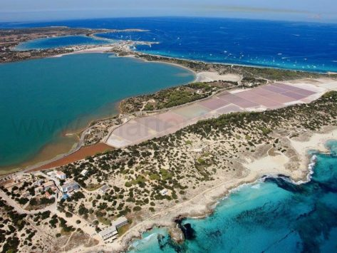 Vista aérea de Parque Natural de Ses Salines