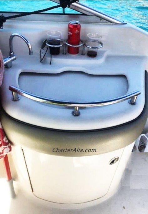 lavabo exterior sea ray 270 lancha para alquiler en ibiza