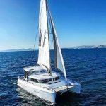 Navegación a vela Lagoon 420 catamaran charter Ibiza y Formentera