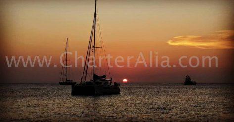 Las puestas de sol desde la costa oeste de Formentera son míticas