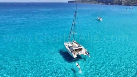 Lagoon 400 catamaran en Formentera